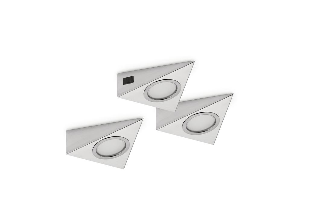 Razzo 1 LED, Unterboden-/Nischenleuchte, Set-3