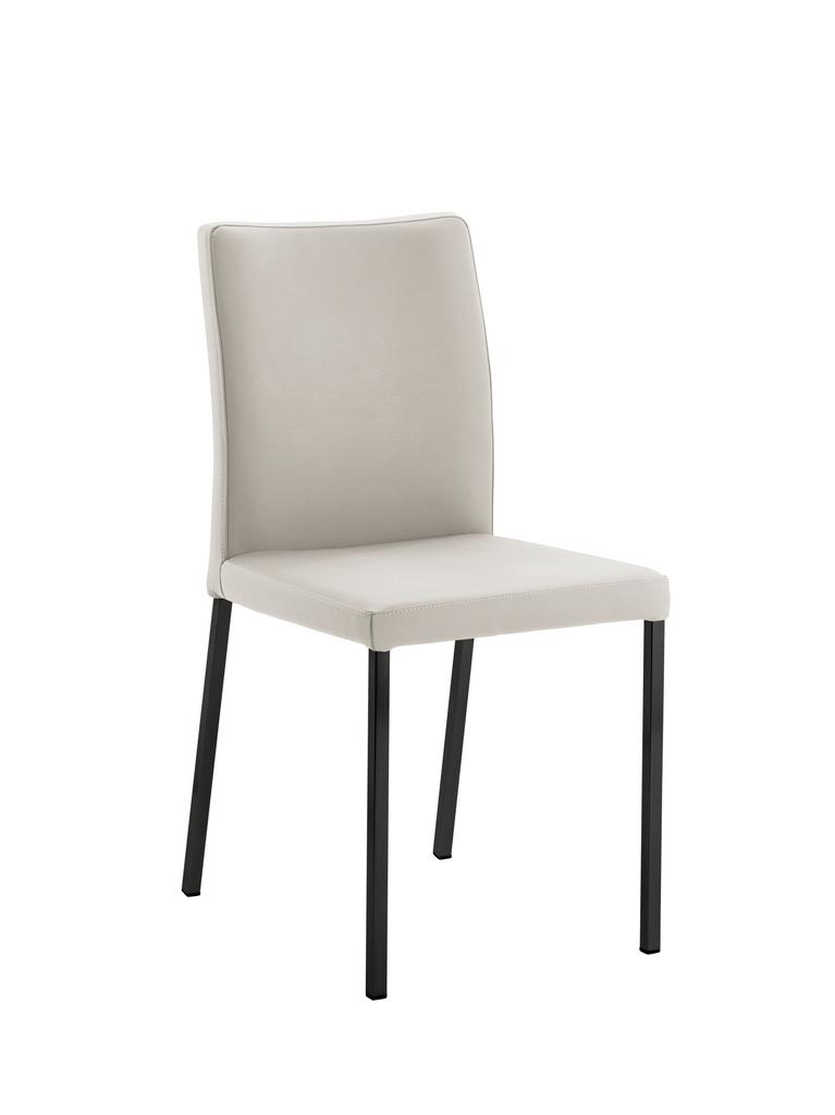Borsa 1, Stuhl, Gestell schwarz, Bezug creme