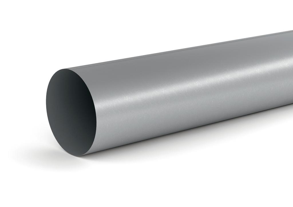 SR-R 150 Rundrohr, Lüftungsrohr, verzinkter Stahl, L 1000 mm