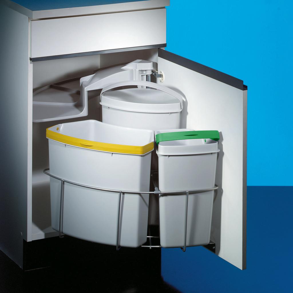 Cabbi® 3, Abfallsammler für Schwenktechnik, hellgrau