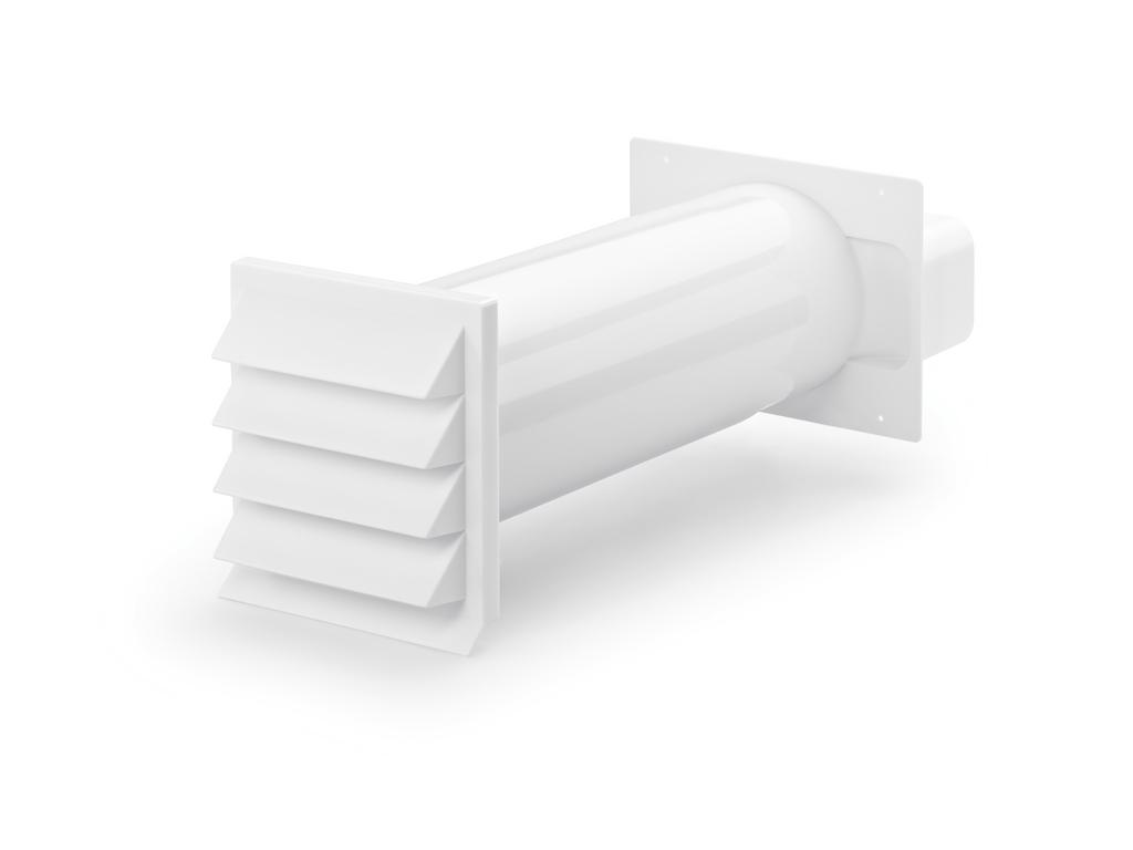 K-Klima-R flow 150 Mauerkasten, weiß