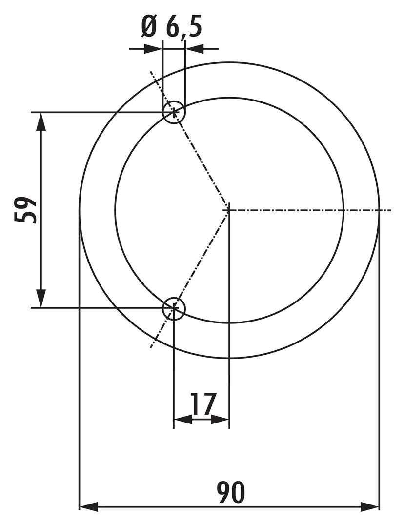Cippo, Sockelfuß, Edelstahl, H 195 mm
