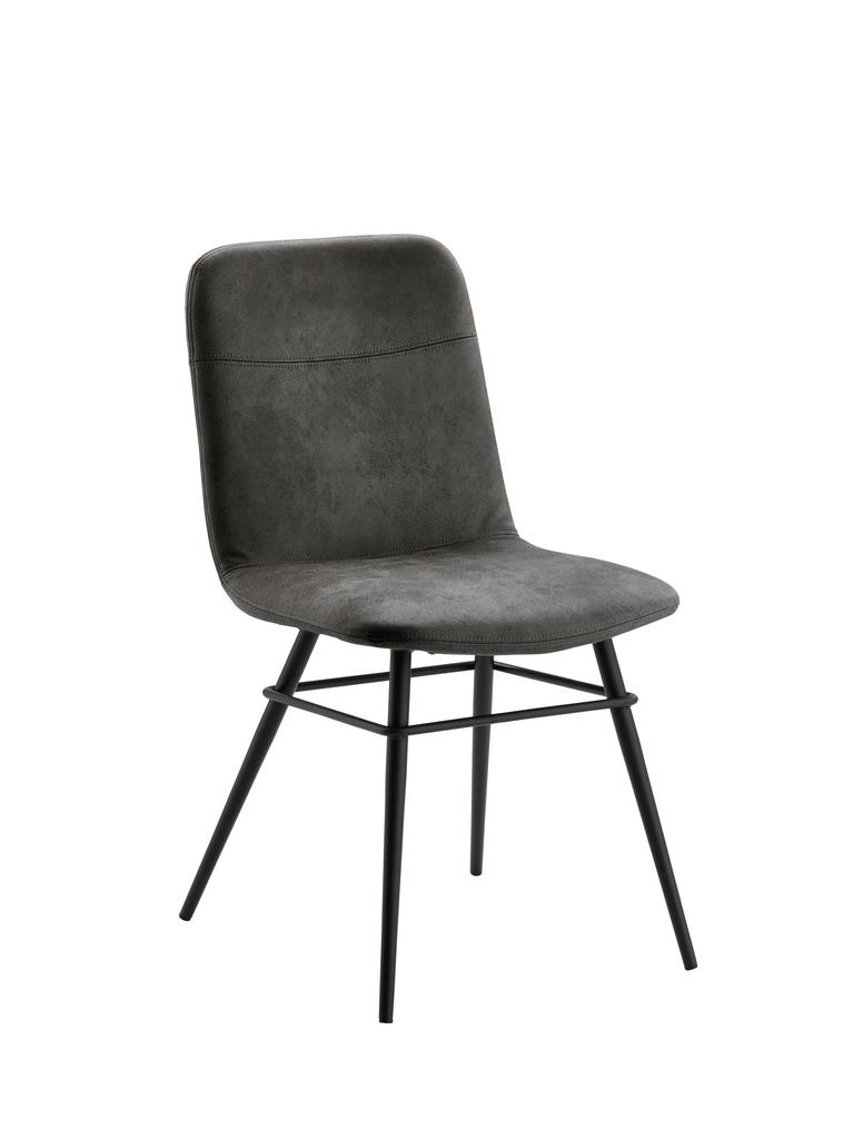 Felice 1, Stuhl, Gestell schwarz, Bezug dunkelgrau