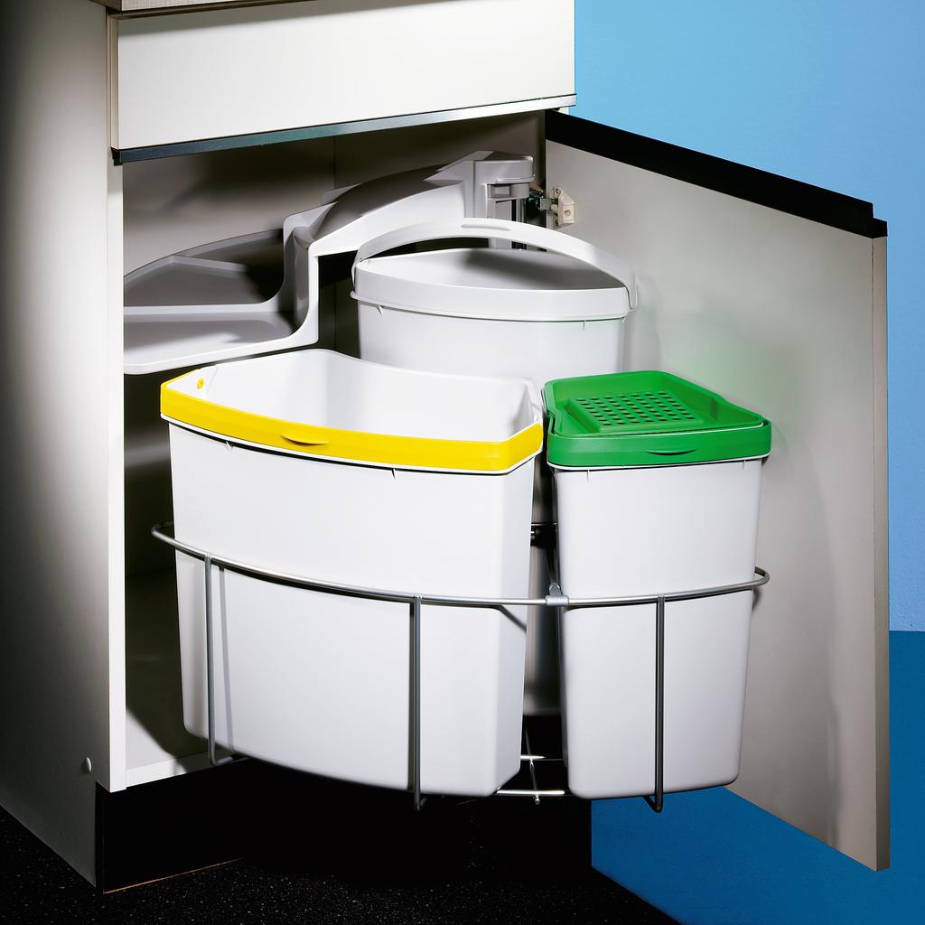 Cabbi® 3 plus, Abfallsammler für Schwenktechnik, hellgrau