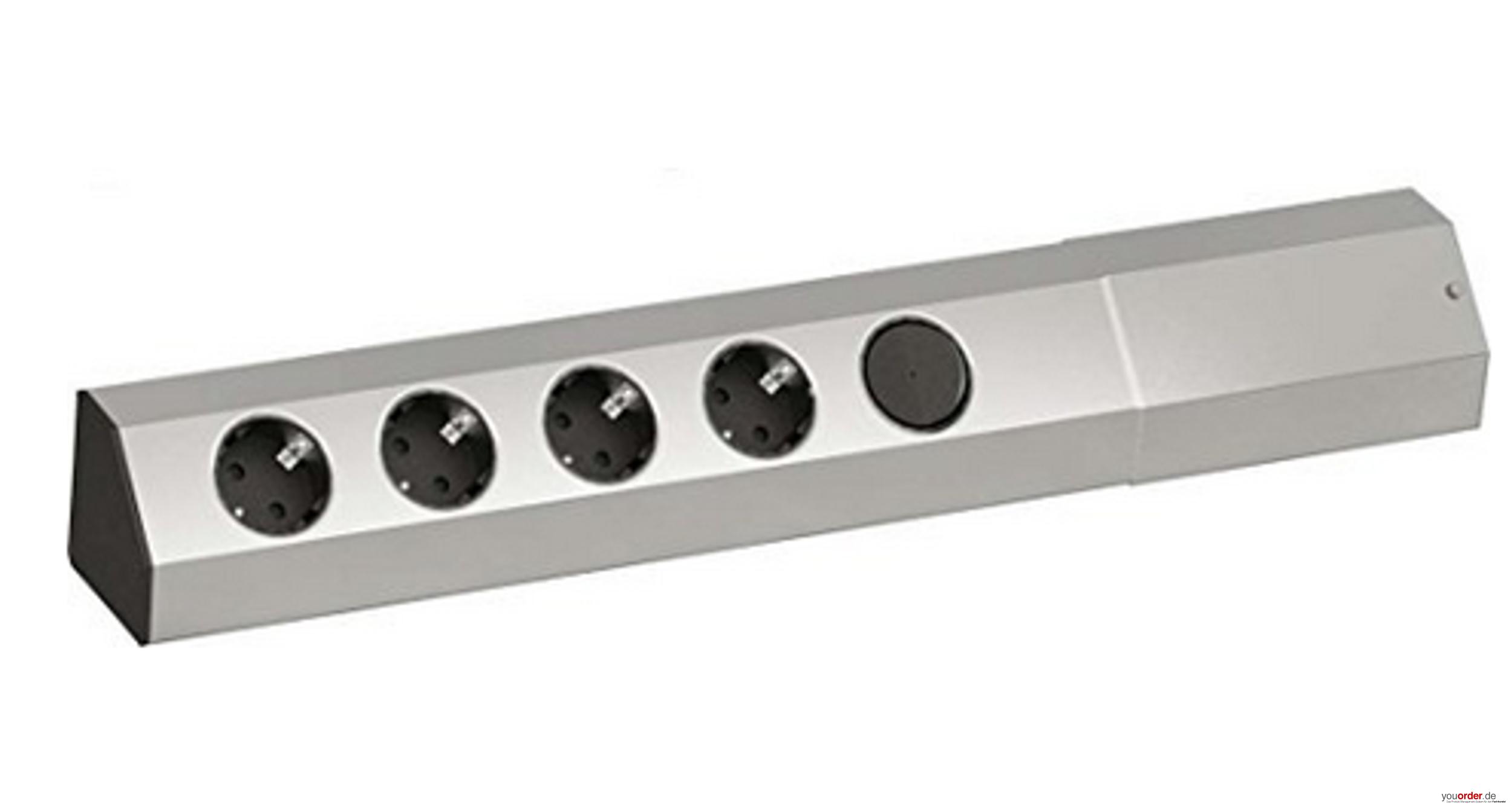 BACHMANN Universal-Steckdosenleiste 4 Steckdosen, 1 Schalter