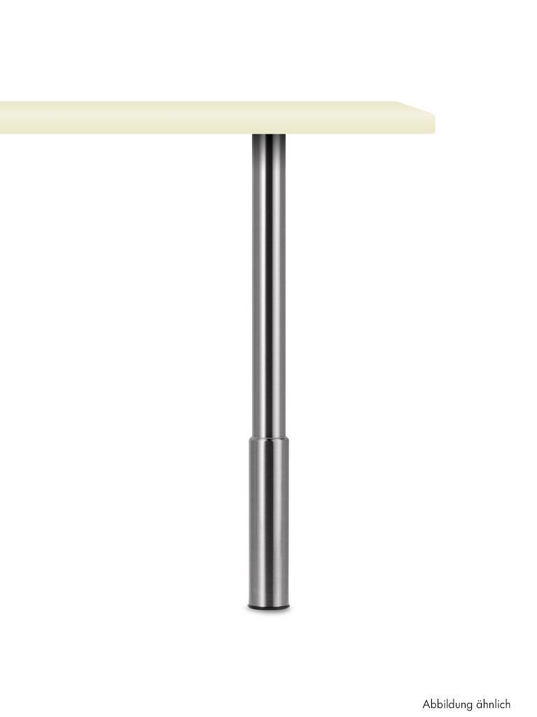 Trampolo 1 rund, Stützfuß, edelstahlfarbig, H 920 - 1100 mm