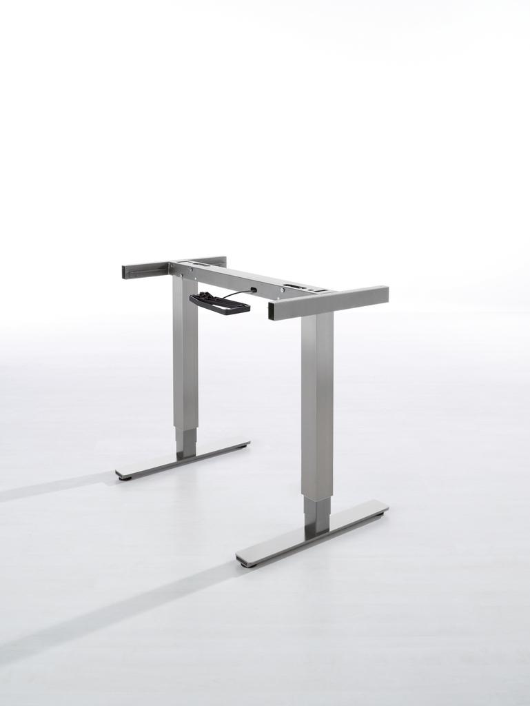 Ergo Agent Twin, Tisch, grau metallic