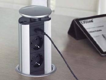 EVOline® Port 2 Steckdosen, 1 USB Charger