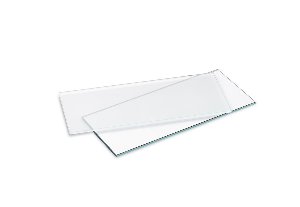 Glastablar, Tablarträger, Klarglas, L 580 mm