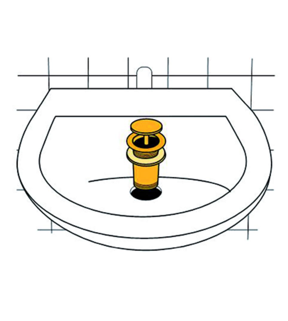"""Ablaufgarnitur """"Klick-Komfort"""", mit Überlauf, Länge 70 mm"""