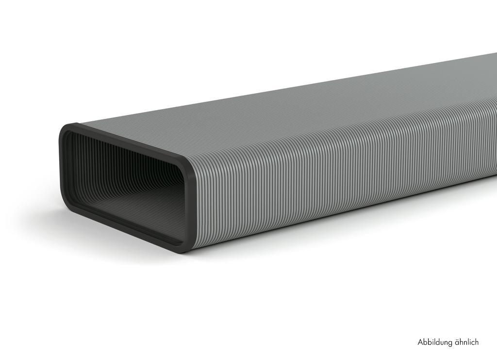 SF-VRO flex 150 Flachkanalrohr, Lüftungsrohr, Aluminium, L 1000 mm
