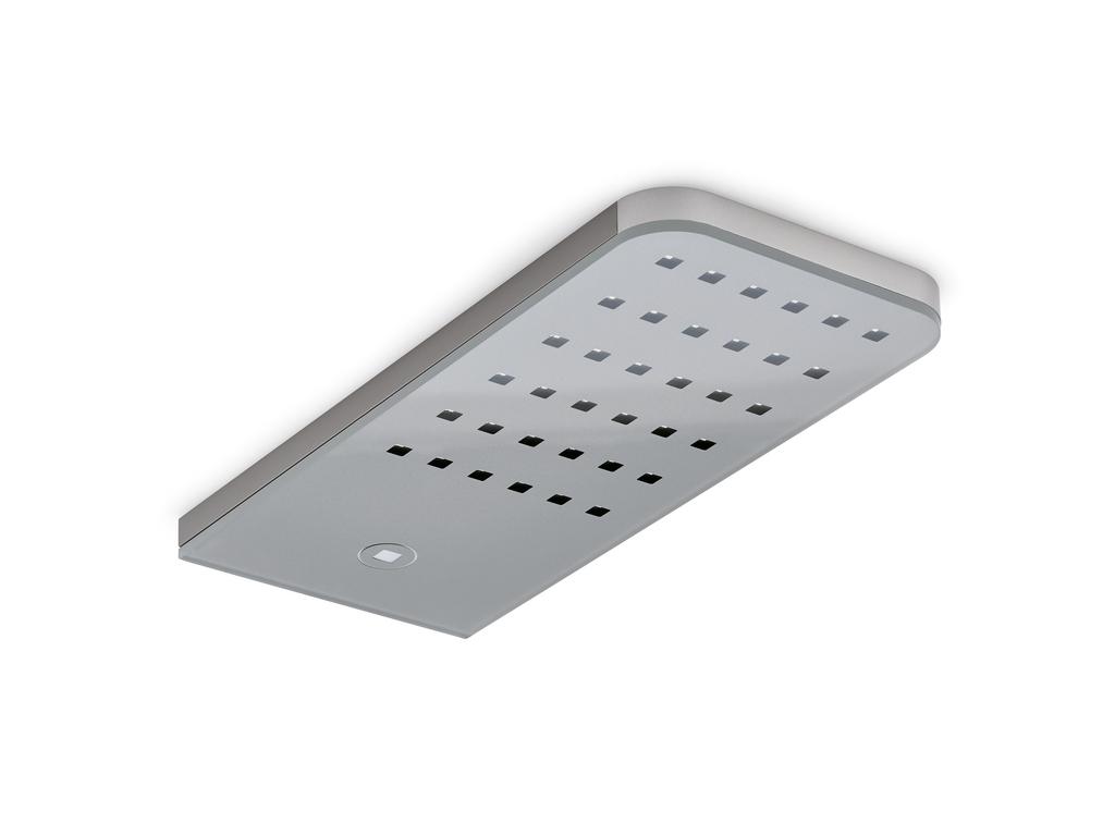 Flip® LED, Unterboden-/Nischenleuchte, Einzelleuchte ohne Schalter, edelstahlfarbig